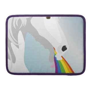 Illustration puking Unicorns Sleeve For MacBook Pro