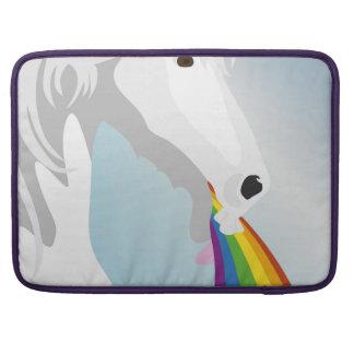 Illustration puking Unicorns Sleeves For MacBooks