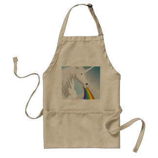 Illustration puking Unicorns Standard Apron
