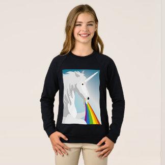Illustration puking Unicorns Sweatshirt