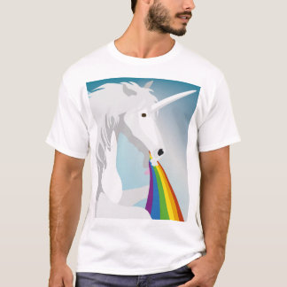 Illustration puking Unicorns T-Shirt
