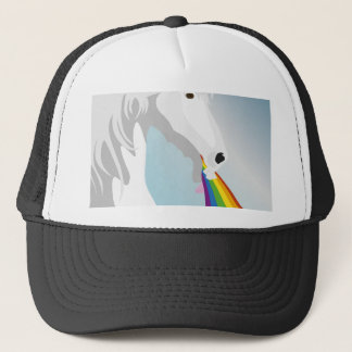 Illustration puking Unicorns Trucker Hat