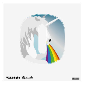Illustration puking Unicorns Wall Sticker