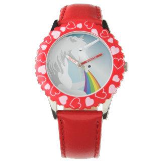 Illustration puking Unicorns Watch