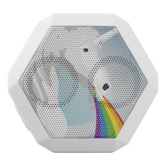Illustration puking Unicorns White Bluetooth Speaker