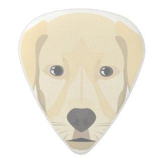 Illustration Puppy Golden Retriver Acetal Guitar Pick