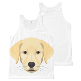 Illustration Puppy Golden Retriver All-Over-Print Tank Top