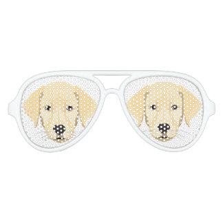Illustration Puppy Golden Retriver Aviator Sunglasses