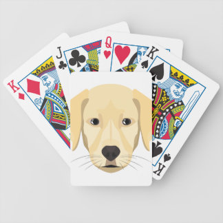 Illustration Puppy Golden Retriver Bicycle Playing Cards