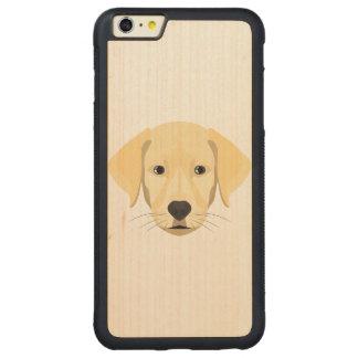 Illustration Puppy Golden Retriver Carved Maple iPhone 6 Plus Bumper Case