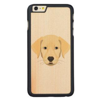 Illustration Puppy Golden Retriver Carved Maple iPhone 6 Plus Case