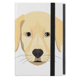Illustration Puppy Golden Retriver Case For iPad Mini