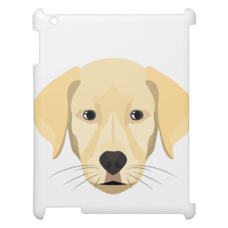 Illustration Puppy Golden Retriver Case For The iPad 2 3 4