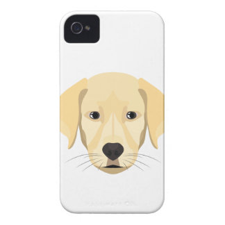 Illustration Puppy Golden Retriver Case-Mate iPhone 4 Cases