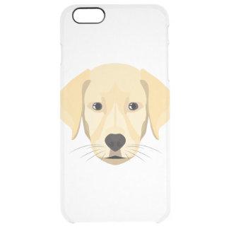 Illustration Puppy Golden Retriver Clear iPhone 6 Plus Case
