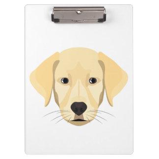 Illustration Puppy Golden Retriver Clipboard