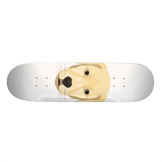 Illustration Puppy Golden Retriver Custom Skate Board