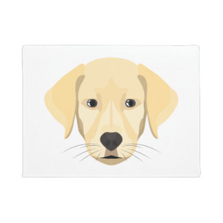Illustration Puppy Golden Retriver Doormat