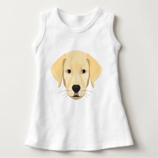 Illustration Puppy Golden Retriver Dress