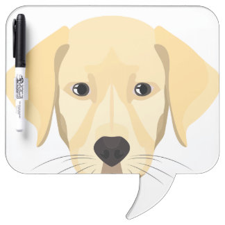 Illustration Puppy Golden Retriver Dry Erase Board