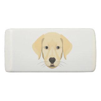 Illustration Puppy Golden Retriver Eraser