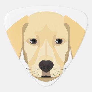 Illustration Puppy Golden Retriver Guitar Pick