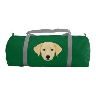 Illustration Puppy Golden Retriver Gym Bag