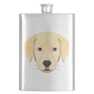 Illustration Puppy Golden Retriver Hip Flask