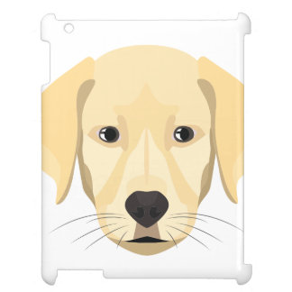 Illustration Puppy Golden Retriver iPad Cover