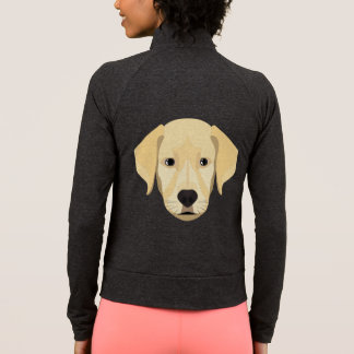 Illustration Puppy Golden Retriver Jacket