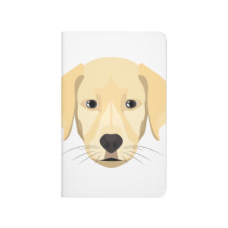 Illustration Puppy Golden Retriver Journal