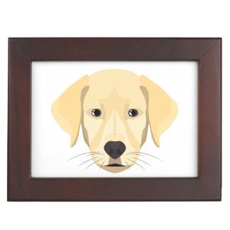 Illustration Puppy Golden Retriver Keepsake Box