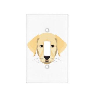 Illustration Puppy Golden Retriver Light Switch Cover