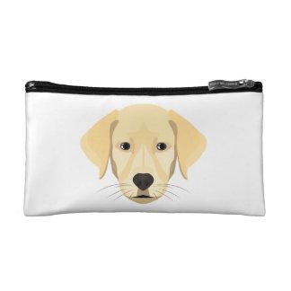 Illustration Puppy Golden Retriver Makeup Bag