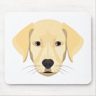 Illustration Puppy Golden Retriver Mouse Pad