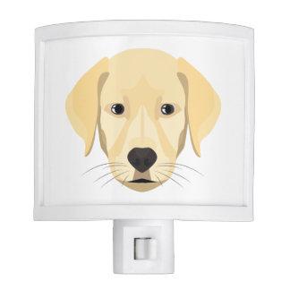Illustration Puppy Golden Retriver Night Lite