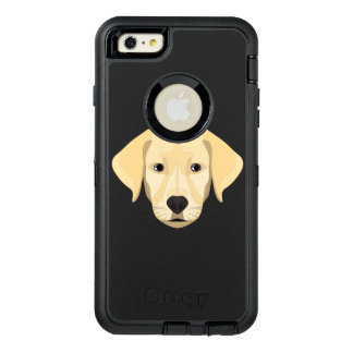 Illustration Puppy Golden Retriver OtterBox Defender iPhone Case