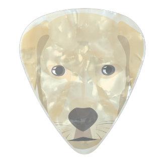 Illustration Puppy Golden Retriver Pearl Celluloid Guitar Pick