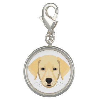 Illustration Puppy Golden Retriver Photo Charm