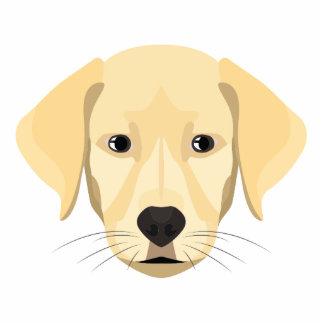 Illustration Puppy Golden Retriver Photo Sculpture Keychain