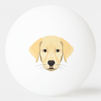 Illustration Puppy Golden Retriver Ping Pong Ball