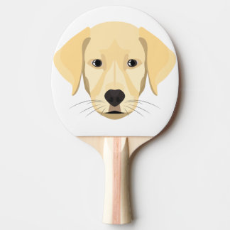 Illustration Puppy Golden Retriver Ping Pong Paddle