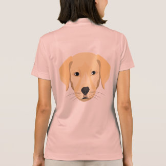 Illustration Puppy Golden Retriver Polo Shirt
