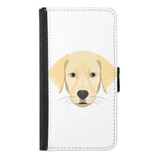 Illustration Puppy Golden Retriver Samsung Galaxy S5 Wallet Case