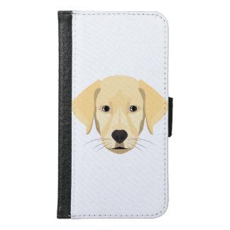 Illustration Puppy Golden Retriver Samsung Galaxy S6 Wallet Case