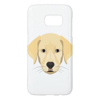 Illustration Puppy Golden Retriver Samsung Galaxy S7 Case