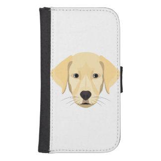 Illustration Puppy Golden Retriver Samsung S4 Wallet Case