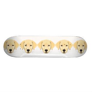 Illustration Puppy Golden Retriver Skate Board Deck