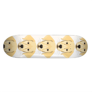 Illustration Puppy Golden Retriver Skate Decks