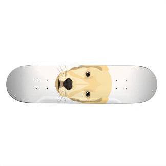 Illustration Puppy Golden Retriver Skateboard Deck
